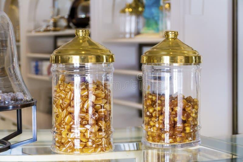 Suikergoed in een patisserie royalty-vrije stock afbeeldingen