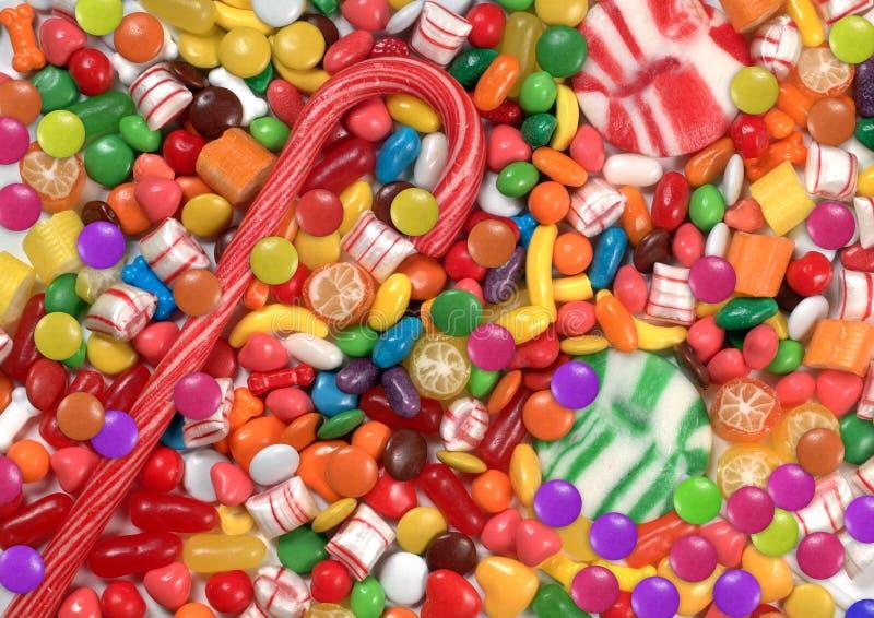 Suikergoed en meer suikergoed stock foto