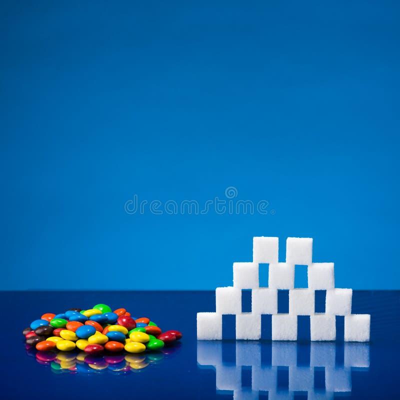 Suikergoed en suiker royalty-vrije stock foto