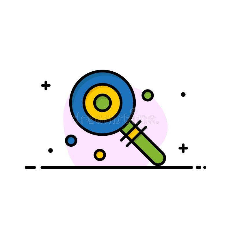 Suikergoed, Lollypop, Lollie, het Zoete Malplaatje van de Bedrijfs Vlakke Lijn Gevulde Pictogram Vectorbanner stock illustratie