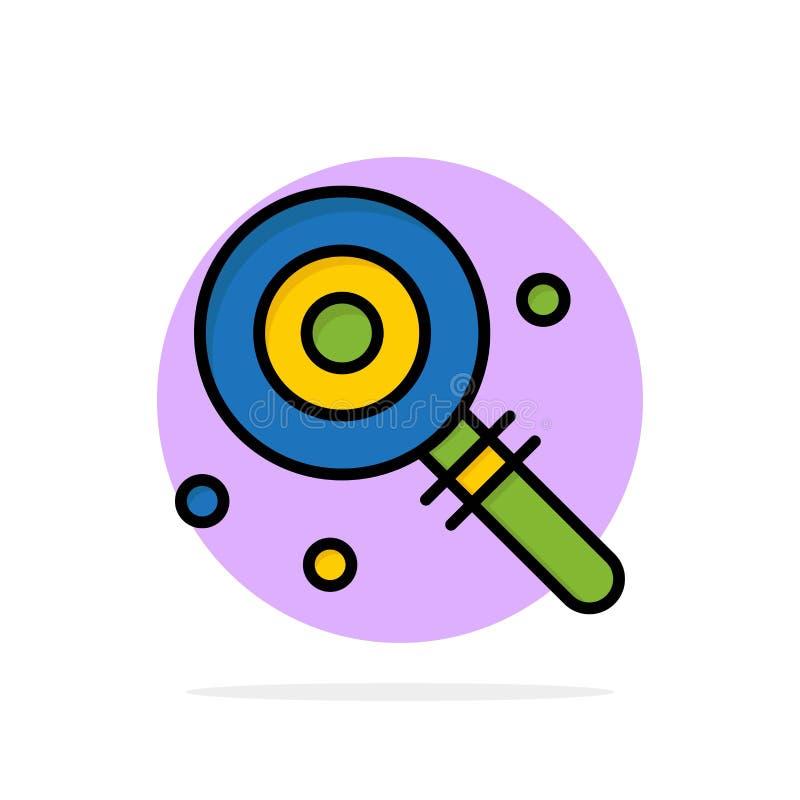 Suikergoed, Lollypop, Lollie, Zoet Abstract Cirkel Achtergrond Vlak kleurenpictogram royalty-vrije illustratie