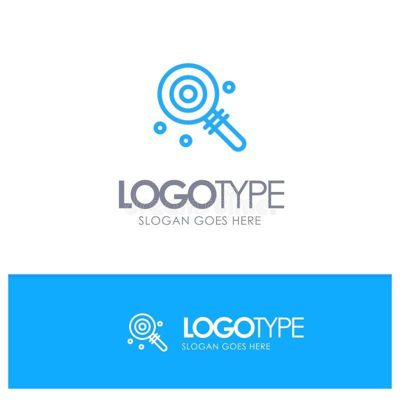 Suikergoed, Lollypop, Lollie, Zoet Blauw Logo Line Style royalty-vrije illustratie