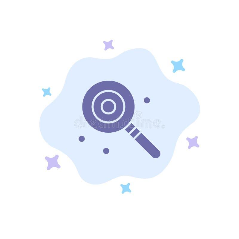Suikergoed, Lollypop, Lollie, Zoet Blauw Pictogram op Abstracte Wolkenachtergrond royalty-vrije illustratie