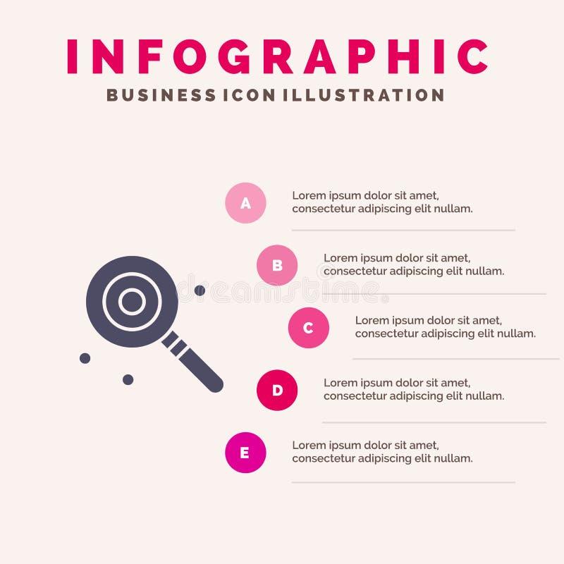 Suikergoed, Lollypop, Lollie, Zoet Infographics-Presentatiemalplaatje 5 stappenpresentatie royalty-vrije illustratie
