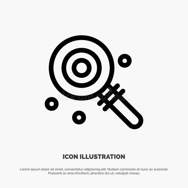 Suikergoed, Lollypop, Lollie, Zoet Vectorlijnpictogram vector illustratie