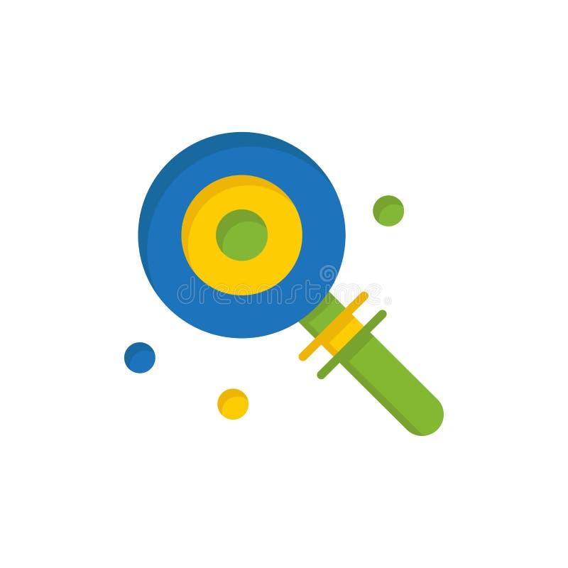 Suikergoed, Lollypop, Lollie, Zoet Vlak Kleurenpictogram Het vectormalplaatje van de pictogrambanner stock illustratie