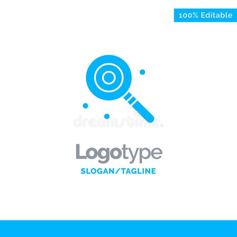 Suikergoed, Lollypop, Lollie, Zoete Blauwe Zaken Logo Template vector illustratie
