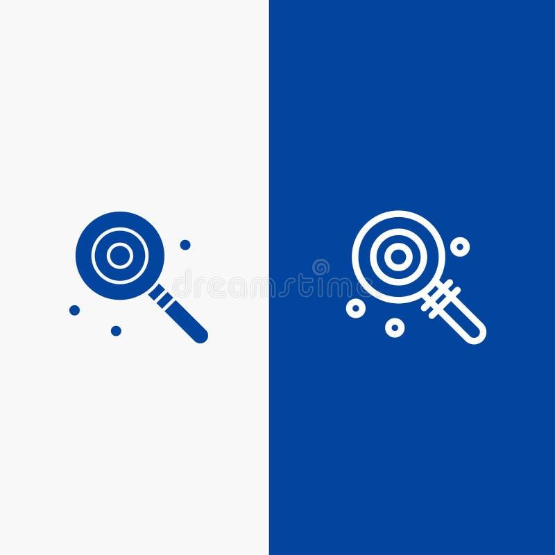 Suikergoed, Lollypop, Lollie, Zoete Lijn en Stevige het pictogram Blauwe banner van Glyph stock illustratie
