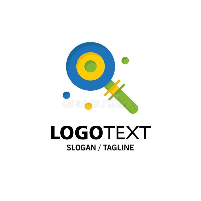 Suikergoed, Lollypop, Lollie, Zoete Zaken Logo Template vlakke kleur stock illustratie