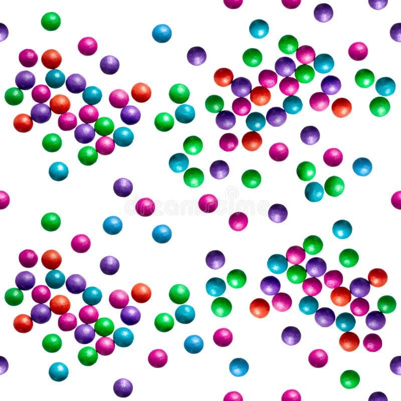 Suikergoed op een wit Naadloos patroon royalty-vrije illustratie