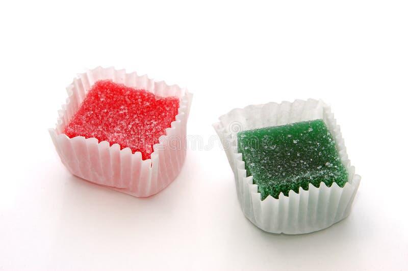 Suikergoed over Wit royalty-vrije stock fotografie