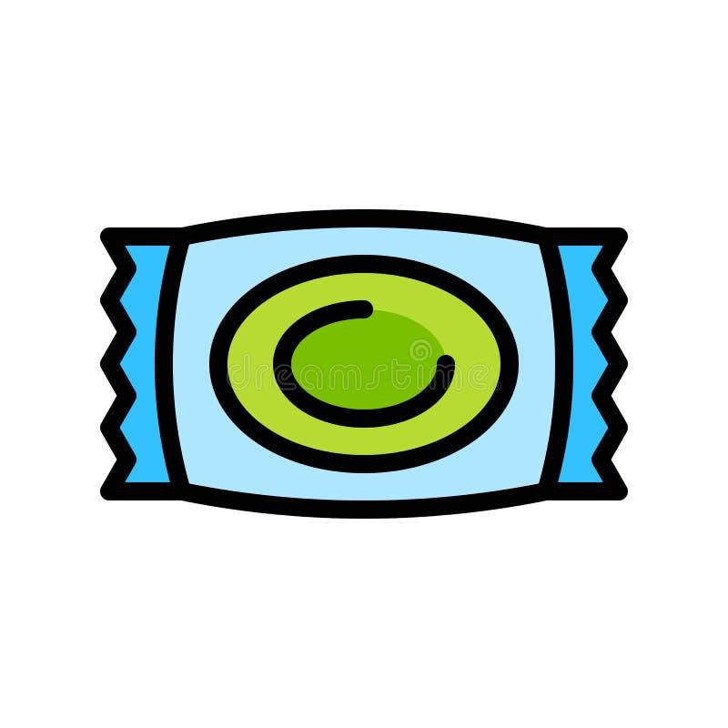 Suikergoed vectorillustratie, het gevulde editable overzicht van het stijlpictogram royalty-vrije illustratie