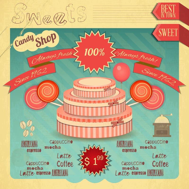 Suikergoed Zoete Winkel royalty-vrije illustratie