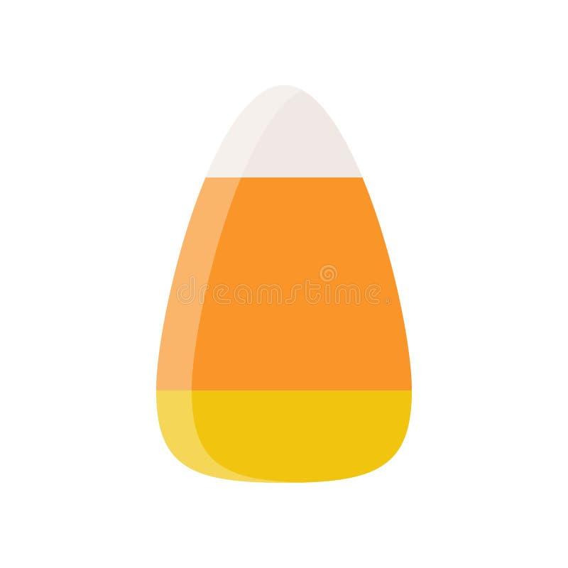 Suikergoedgraan, het verwante pictogram van het snoepjessuikergoed Halloween in vlak ontwerp stock illustratie
