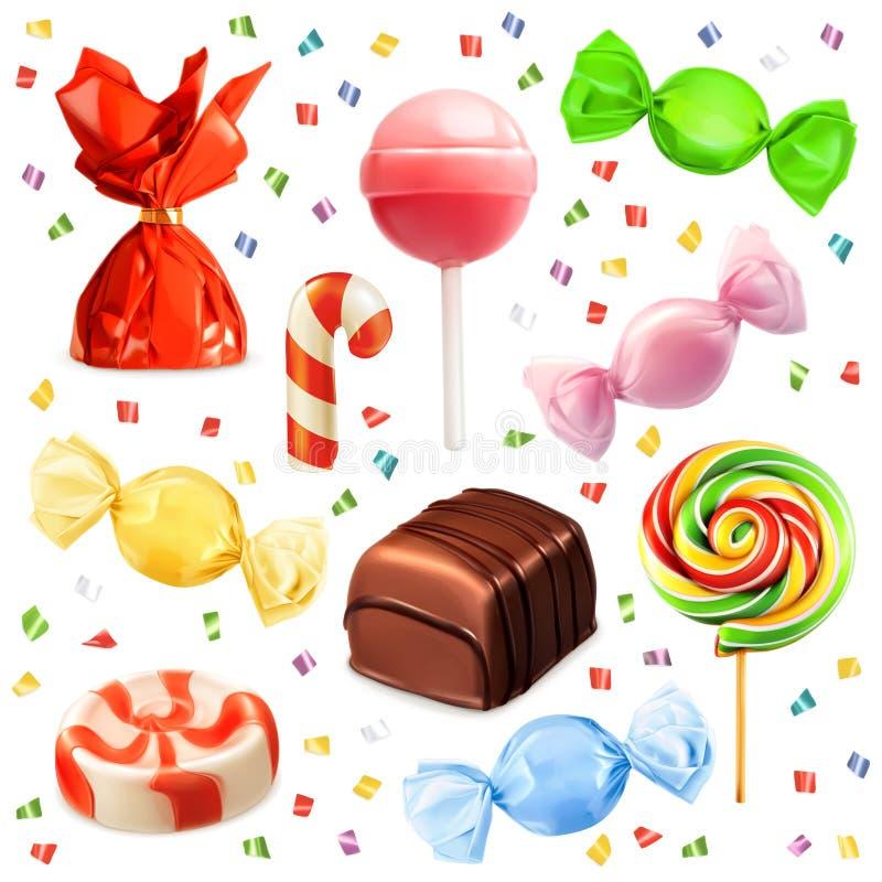 Suikergoedreeks, vectorpictogrammen