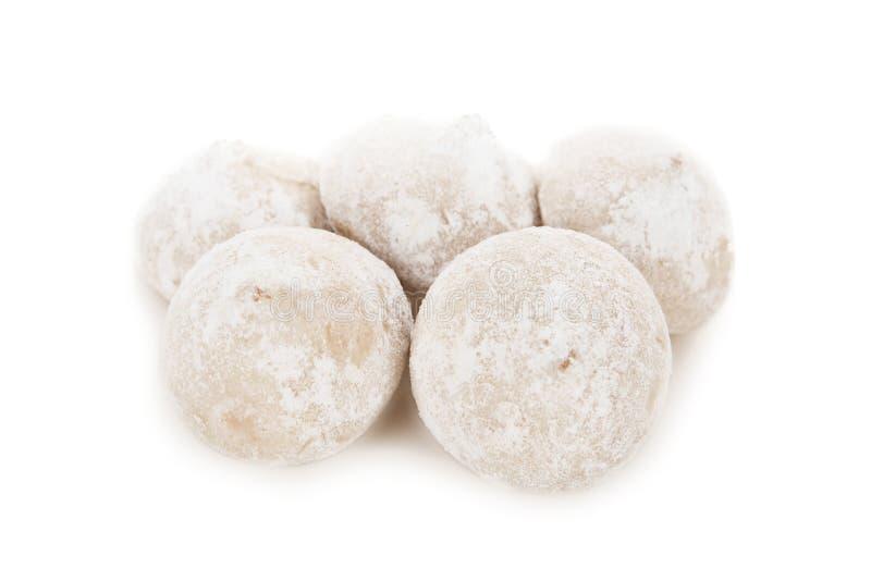 Suikergoedtruffels op witte achtergrond worden geïsoleerd die stock afbeelding