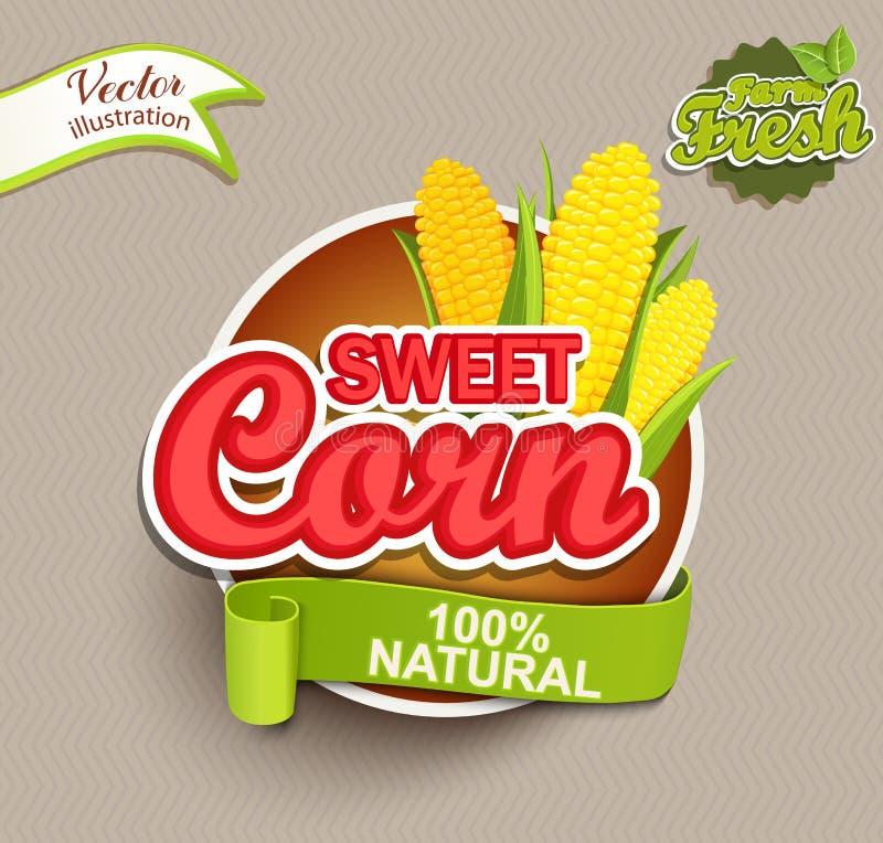 Suikermaïsembleem stock illustratie
