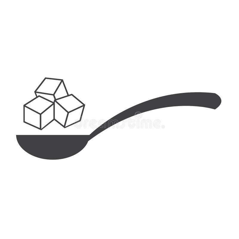 Suikerpictogram stock illustratie