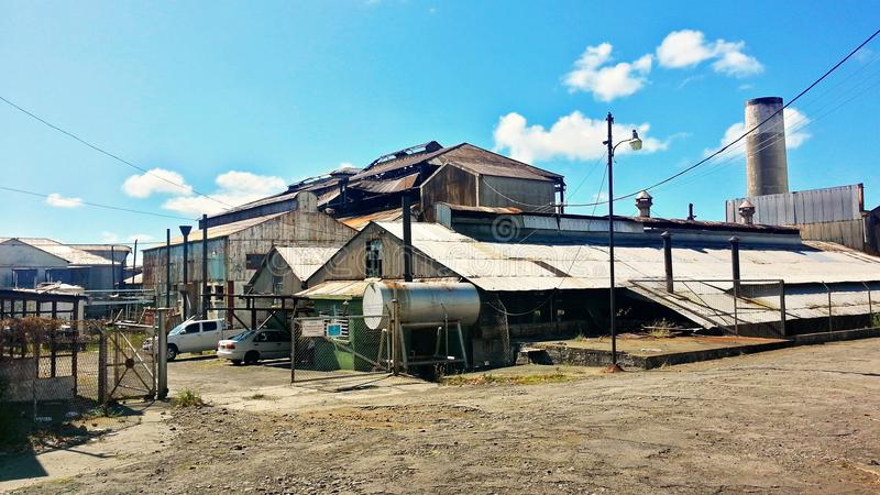 Suikerrietfabriek - St Kitts stock afbeelding