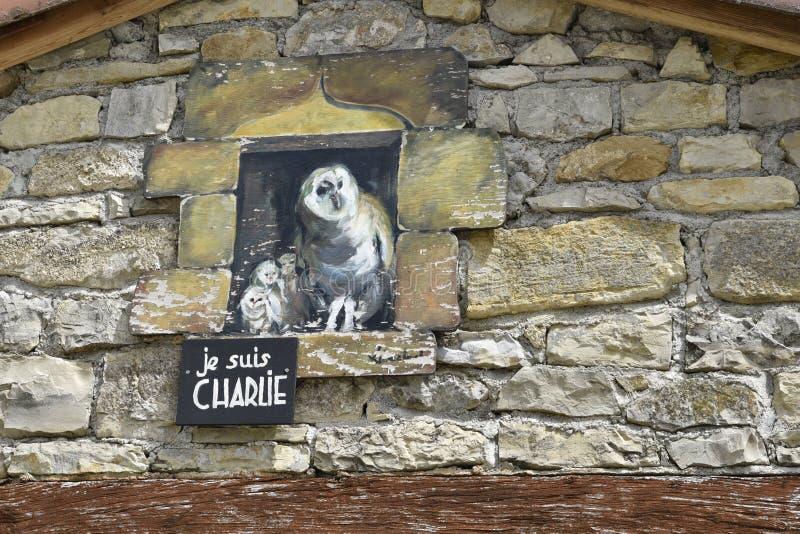 Suis Charlie, Cornac, Francia di Je fotografia stock libera da diritti