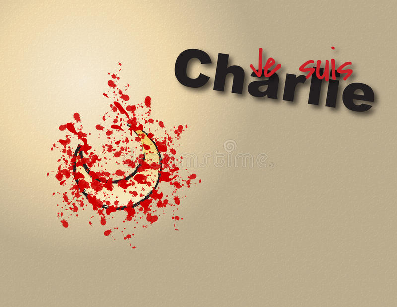 Suis Charlie de Je Ilustração do gráfico de vetor para artigos temáticos de Charlie dos suis de Je foto de stock royalty free