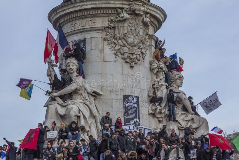 Suis Charlie Parade Paris France di Je immagine stock