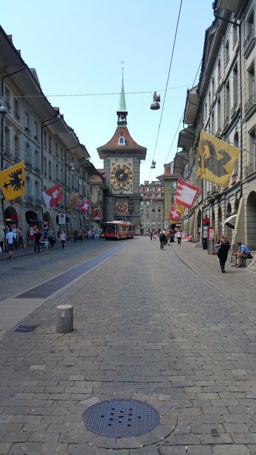 Suisse Berns die Schweiz berühmte Straße lizenzfreies stockfoto