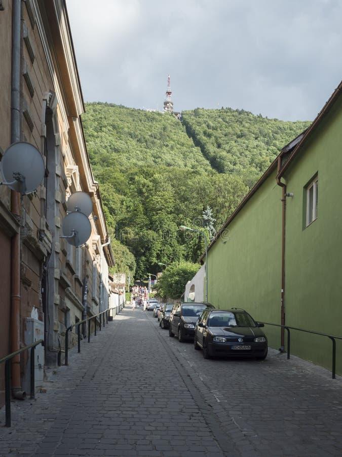 Suisul Castelului street in Brasov, Romania stock photography