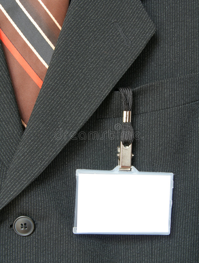 Free Suit And Name Tag Royalty Free Stock Photo - 1064555