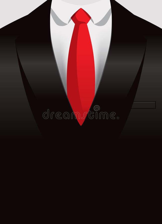 Suit Background. An illustration of a Suit with a red tie background stock illustration