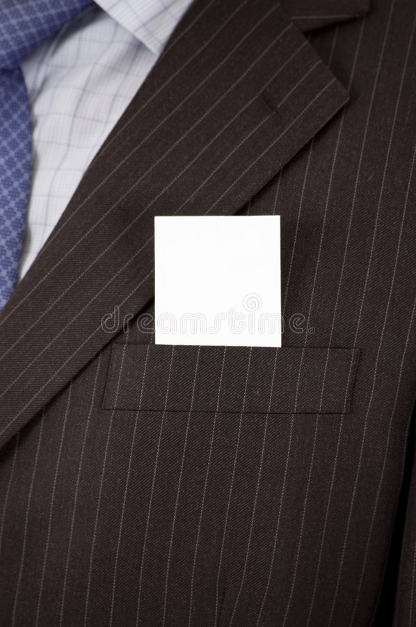 Download Suit Card stock image. Image of card, advertise, businessman - 2600981