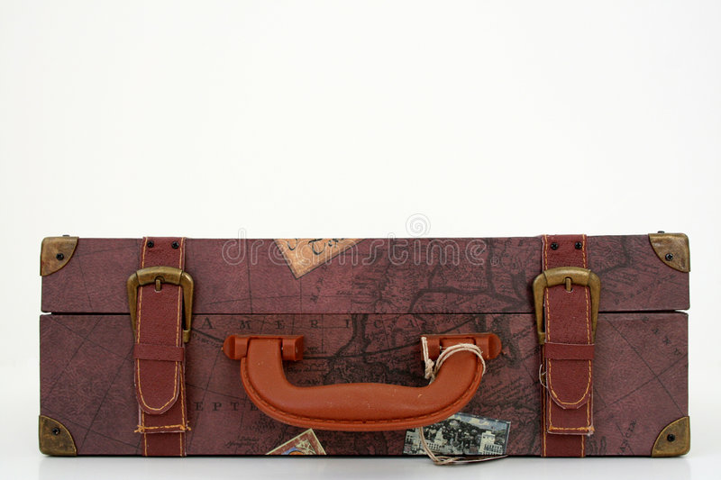 Download Suit case lying down stock photo. Image of brown, luggage - 1350752