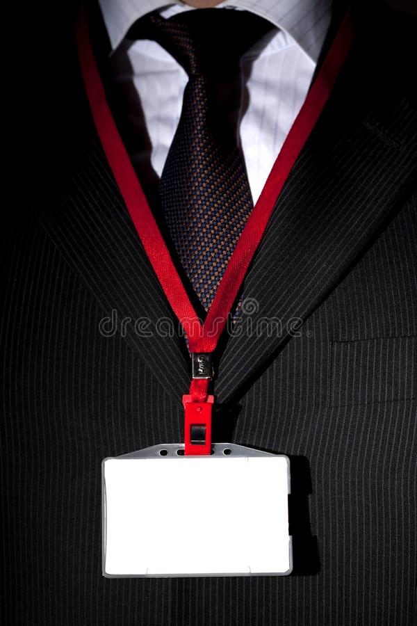 Suit and ID Card royalty free stock photos