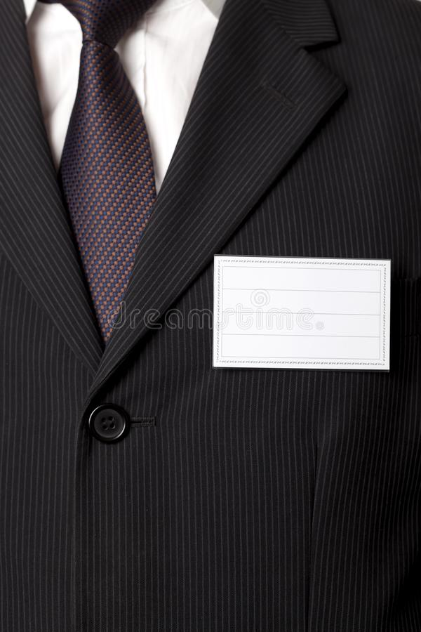Suit and ID Card royalty free stock image