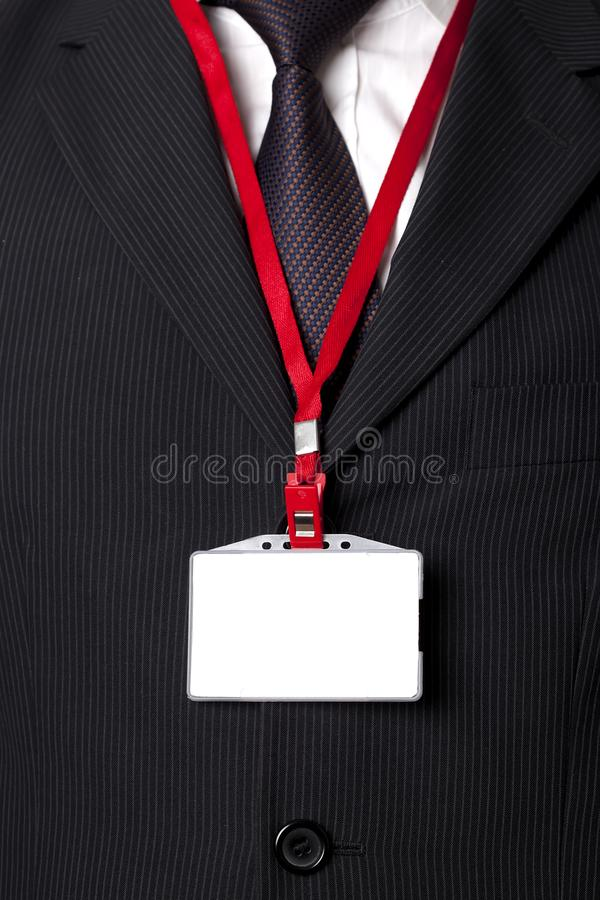 Suit and ID Card stock photography