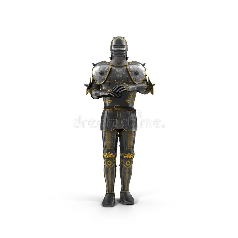 Suit of knight armour on white. 3D illustration. Suit of knight armour on white background. 3D illustration vector illustration