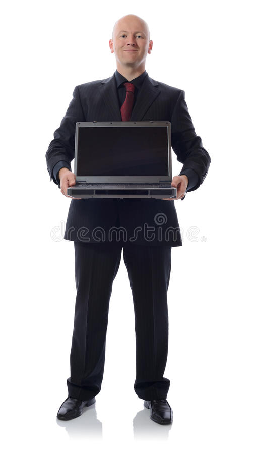 Download Suit with laptop stock photo. Image of businessman, full - 26888082