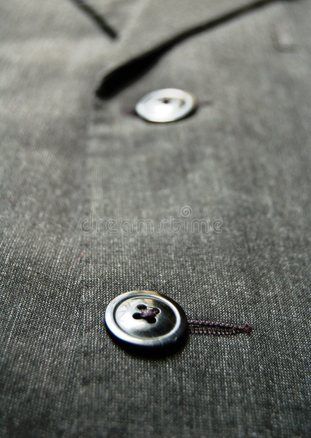Suit's Button stock photography
