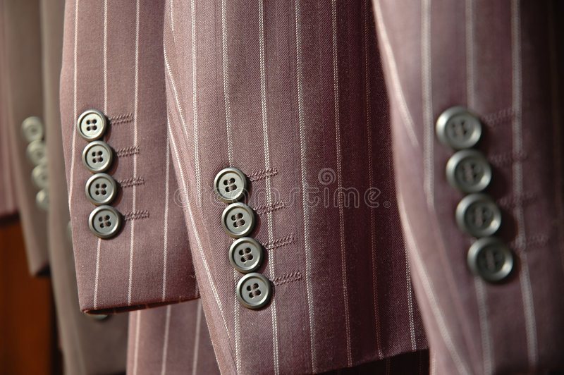 Suit sleeves. royalty free stock image