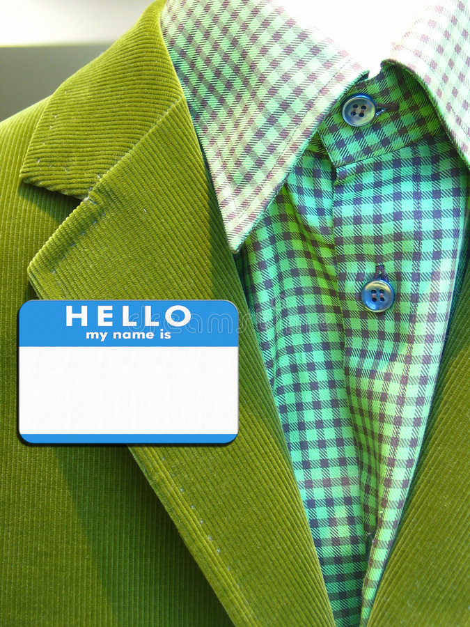 Free Suit With Name Badge Royalty Free Stock Photo - 838255