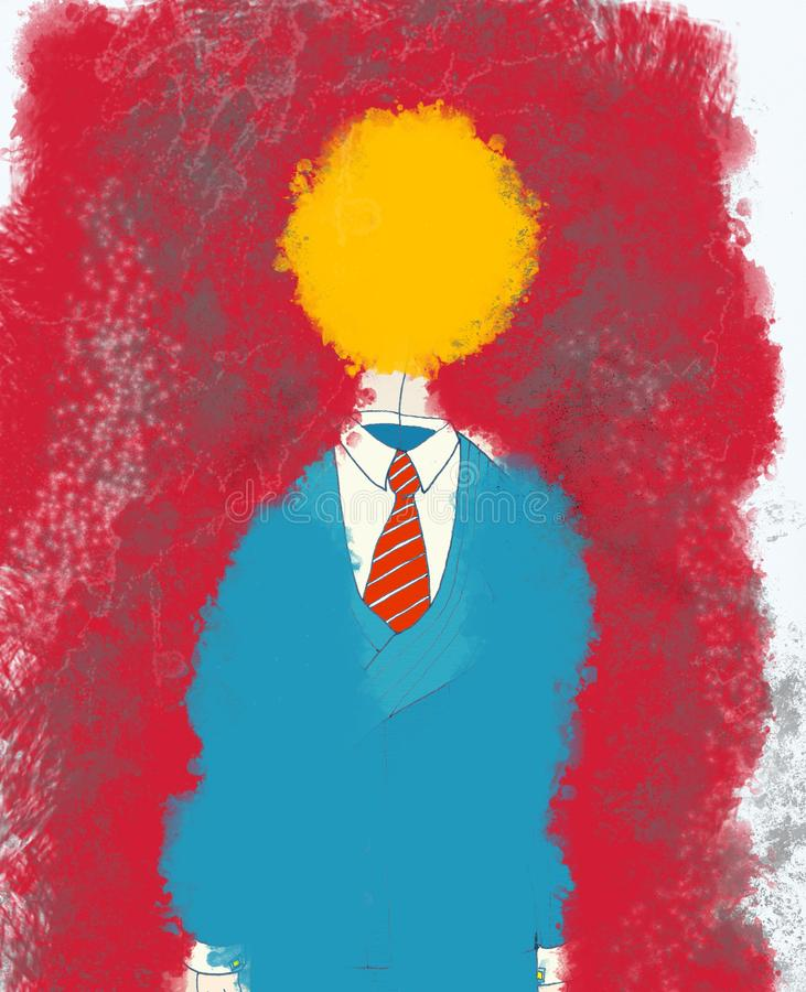 Download Suit with yellow head stock illustration. Illustration of surprise - 3149008