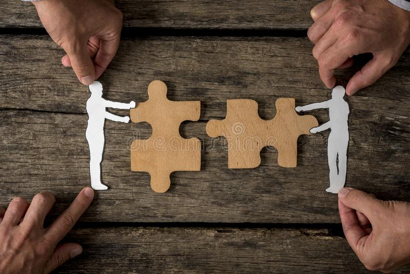 Suitable for business teamwork concept stock photo