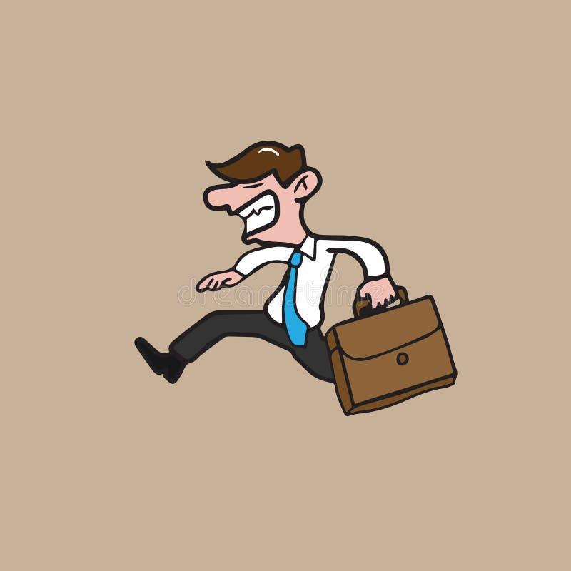 Suitcade del hombre de negocios libre illustration