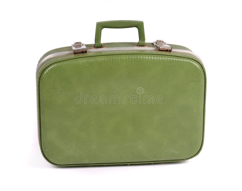 Suitcase. Travel Concept: old vintage suitcase. Contains Clipping path