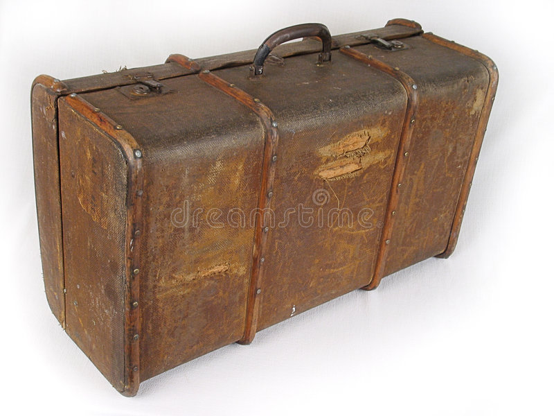 Suitcase. Old brown suitcase for travel stock photography