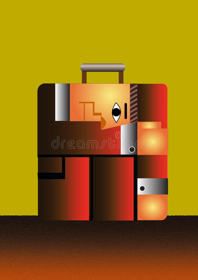 Download Suitcase stock illustration. Illustration of cartoon - 22033063