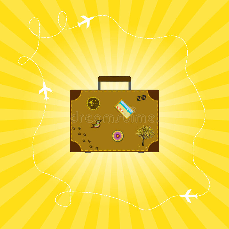Download Suitcase stock photo. Image of luggage, plane, brown - 29085238
