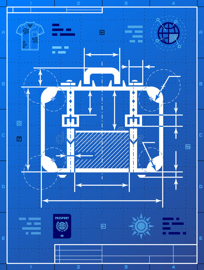 Suitcase as blueprint drawing stock vector illustration of case download suitcase as blueprint drawing stock vector illustration of case analytics 52684575 malvernweather Gallery