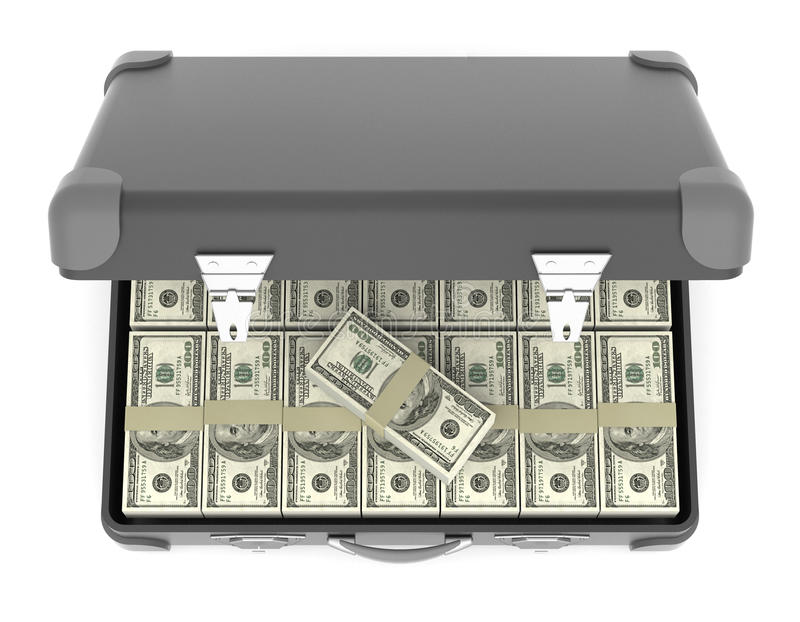Download Suitcase of banknotes. stock photo. Image of prosperity - 28931896