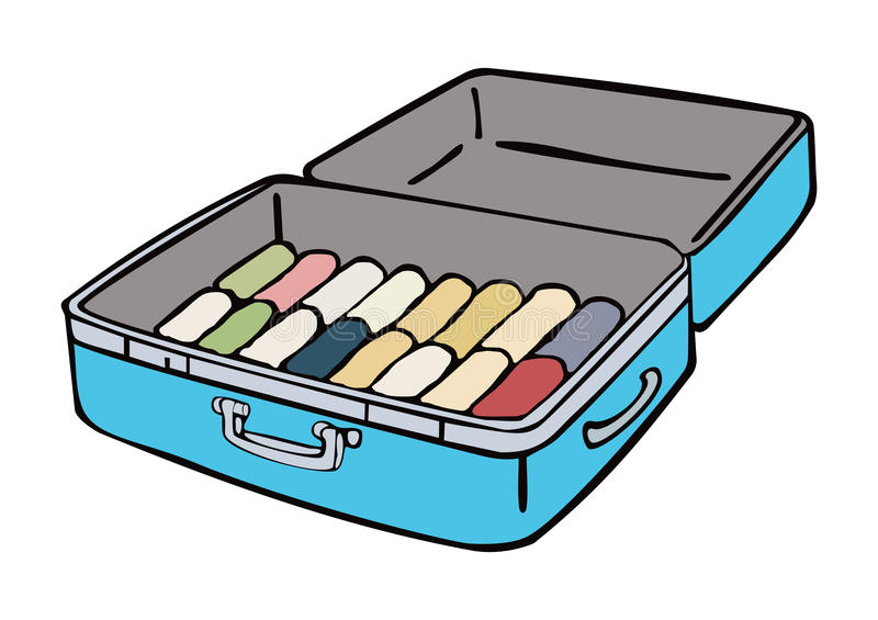 Suitcase stock illustration